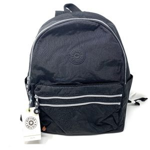Kipling Backpack Bouree Black Zipper Handbag